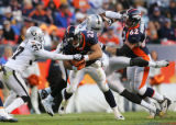(1243)  Peyton Hillis runs in the third quarter of the Denver Broncos against the Oakland Raiders...