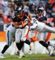 (1241) Peyton Hillis runs in the third quarter of the Denver Broncos against the Oakland Raiders...