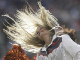 JPM384 Denver Broncos cheerleader in the first quarter against the Oakland Raiders   Sunday, Nov....