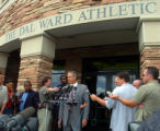 (BOULDER COLO., May 27, 2004 )  Dick Tharp, Director of Athletics at the University of Colorado...