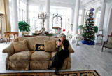 Jeanne Ritter puts up green holiday decorations at the governor's mansion and explains how this...