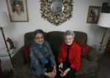 DM0430  Lena Archuleta and Dora Valdez pose for a photograph in Denver Tuesday Nov. 25, 2008. wo...