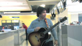 ****NOTE: IMAGE FROM VIDEO, QUALITY LIMITED***    JPM104_Oates_Newsroom -- Recording artist John...