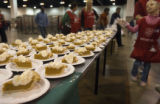 (0010) Volunteers preparing a Thanksgiving dinner provided by the Salvation Army Thursday, Nov....
