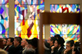 (PG4106) Jews gather at the BMH-BJ Synagogue in Denver, Colo., on Sunday, November 30, 2008 to...