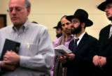 (PG4121) Jews gather at the BMH-BJ Synagogue in Denver, Colo., on Sunday, November 30, 2008 to...