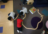 Foster children play at Kempe's therapeutic preschool on December 01, 2008. Kempe is home to kids...
