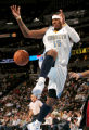 0042 Denver Nuggets forward Carmelo Anthony (15) gets the ball knocked out of his hands in the...