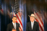 0246 Reflections are displayed from a photograph shot through a chandelier as President-elect...