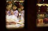 (0369) Isabella Martinez (cq), 5, does crafts during Family Christmas Crafts at Trinity United...