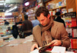 (0240) Matt Perault browses at Kramer Books in Dupont Circle in Washington DC, on Wednesday, Jan....