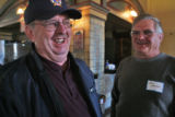 L to R: Pueblo residents Joe Fitzgerald (cq) and Ken Griffin (cq) talks after  a community...