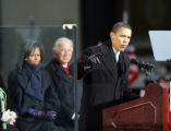 (669) President-Elect Barack Obama speaks to a crowd estimated at 30,000 at the War Memorial Plaza...
