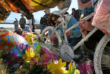 Fellow bike riders and members of the Louisville and Lafayette communities gathered at the site...