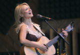 Jewel performs at the 32nd Annual Telluride Bluegrass Festival in Telluride Colo., on Friday, June...