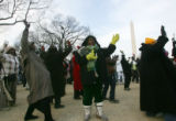 (0241) A group of women dance to Stevi Wonder before the Inauguration of the 44th President of the...