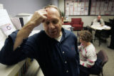 Chuck Kienast spends 4 hours a day looking for work at the Arapahoe/Douglas Workforce Center in...