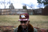 90-year-old Colonel Fitzroy Newsum (cq), a former member of the Tuskegee Airmen, poses for a...