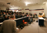 0275 Denver Broncos owner ex-head coach Mike Shanahan holds a press conference at Dove Valley in...
