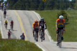 Some of the 7,000 riders, of all ages and abilities, take to Roller-coaster Road Sunday June 5,...