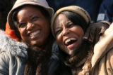 MJM129 Two unidentified woman smile on Tuesday, Jan. 20, 2009 during the Inauguration of President...