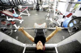 0106GYM1.JPG Larry Romero (cq) works out in a quiet gym at The Workout Studio in Boulder, Colorado...