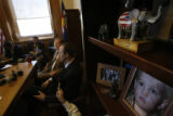 (from right) Senate GOP leader Josh Penry (cq), of Grand Junction, and House Republican chief Mike...