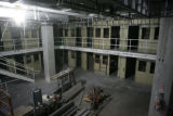 A pod containing a few of the 1,500 beds being built to house pre-arraigned detainees inside the...