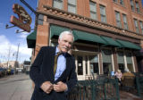 Ted Turner visits  his restaurant Ted's Montana Grill in Denver, Colo. Thursday, January 22,...