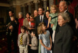 MJM2038 Vice President Joe Biden (cq) holds Anne Bennet, 4, as he poses for a photo with newly...