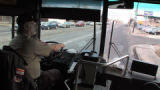 Tom Rogers (cq) drives and RTD bus on East Colfax Avenue Friday January 9,2009 on the city's...