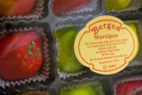 Marzipan is stacked on the shelves at the all Kosher East Side Kosher Deli at 499 S. Elm St.,...