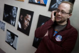 DM0320   Lou Leonard makes calls on behalf of the presidential campaign for Sen. Barack Obama at...