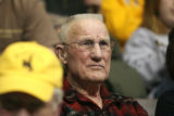Kenny Sailors watches the University of Wyoming women's basketball game on the campus in Laramie,...