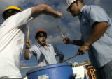 (DENVER, Colo., June 11, 2004) Members of Denver's New York Street Boys (lt.-rt.) Craig Olsen,...