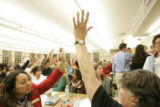 [0154] People crowded into the lunchroom at Horace Mann Middle School Tuesday, February 5, 2007,...