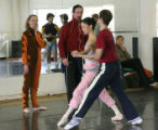 Ballet stars John Gardner, right, and his wife Amanda McKerrow work with dancers at the Colorado...