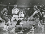 David Thompson (33) and Dan Issel, shown in action during last season have been designated...