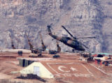 XBO101 - ** CORRECTS HELICOPTER TYPE ** A Turkish army Black Hawk helicopter takes off with...