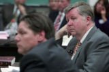 State Representative Douglas Bruce R- Colorado Springs reacts listens to testimony against HB 1145...