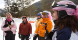 (Keystone, Colo., Feb. 9, 2008) Kate Hare (Scottsdale, Ariz.), Karla Balzer (Silverthorne), Betty...