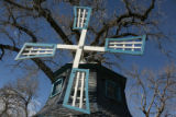 Windmill on northside of Colfax Avenue west of Peoria Street Tuesday February 12,2008. The...