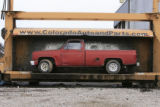 DM0191   Pablo Alcala's 1981 Chrevolet pick-up gets crushed at Colorado Auto & Parts inn...