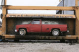 DM0192   Pablo Alcala's 1981 Chrevolet pick-up gets crushed at Colorado Auto & Parts inn...