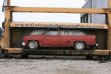 DM0197   Pablo Alcala's 1981 Chrevolet pick-up gets crushed at Colorado Auto & Parts inn...