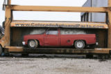 DM0202   Pablo Alcala's 1981 Chrevolet pick-up gets crushed at Colorado Auto & Parts inn...
