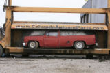DM0209   Pablo Alcala's 1981 Chrevolet pick-up gets crushed at Colorado Auto & Parts inn...