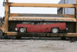 DM0218   Pablo Alcala's 1981 Chrevolet pick-up gets crushed at Colorado Auto & Parts inn...