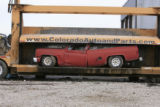 DM0221   Pablo Alcala's 1981 Chrevolet pick-up gets crushed at Colorado Auto & Parts inn...