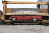 DM0226   Pablo Alcala's 1981 Chrevolet pick-up gets crushed at Colorado Auto & Parts inn...